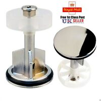 Chrome Plated Sink Waste Pop-Up Plug Bathroom Kitchen Push Button Basin 40MM UK