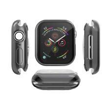Für Apple Watch Series 4 44 mm TPU GEL Hülle mit Displayschutz schwarz