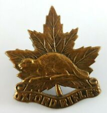Rare WW2 Canadian The Oxford Rifles  cap badge - 2 Lugs to Rear