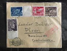 1948 Szczecin Poland Registered Censored Cover To Plzen Czechoslovakia