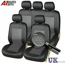 Front & Rear For Audi A1 A3 A4 A5 A6 Car Seat Covers Leather Look Full Set Grey