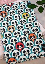 Spy Panda remanente de 100% algodón tejido pandas Quilting recortes de 110cm X 22.5cm