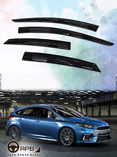 For Ford Focus 11-18 Hatchback Mugen 3D Window Visor Vent Sun Guard Door Visor