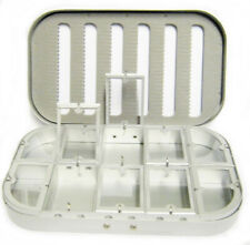 Aluminum Silver 10 Compartment Fly Fishing Box Nymphs Wet Dry Flies Rods Reels