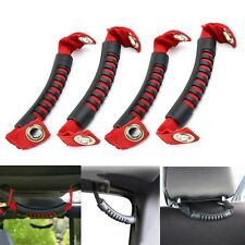 4x Red & Black Car Rear Side Seat Grab Handle for Jeep Wrangler 2007-2014 NEW