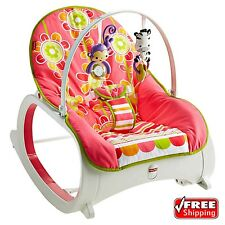 Fisher Price Infant-To-Toddler Rocker Baby Sleeper Rocking Chair Floral Confetti