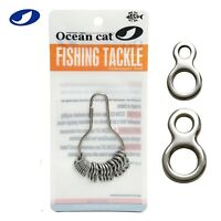 OCEAN CAT Figure 8 Ring Stainless Steel Fishing Split Ring Snap Tackle Connector