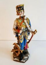 Capodimonte Porcelain Figure of a Decorated Soldier Antique Incredible Quality