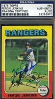 Fergie Jenkins Signed 1975 Topps Psa/dna Certed Autograph Authentic