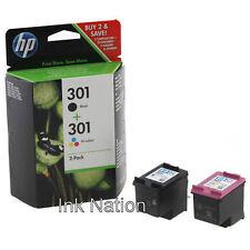 Original Genuine HP 301 Black 301 Colour Ink Cartridges Combo Pack