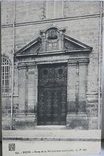 CARTE POSTALE ANCIENNE - CPA DIJON - 21 - PORTE DE BIBLIOTHEQUE MUNICIPALE 1919
