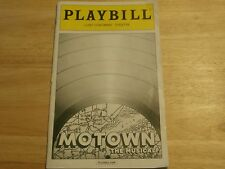 Playbill Program Motown the Musical Lunt Fontanne Theatre 2013 NYC Brandon Dixon