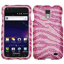 For AT&T Samsung Skyrocket Galaxy S II 2 Crystal BLING Case Cover Pink Zebra
