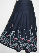 PER UNA Navy Embroidered Cotton Skirt SIZE 14 BNWT ~ The High Street Collection