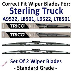 Wipers 2pk Standard fit 1999 Sterling Truck A9522 L8501 L9522 LT8501 30200x2