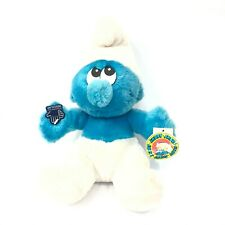 """Vintage Applause Smurfs Blue Smurf Character 11"""" Plush Stuffed Toy New with Tag"""