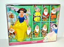 Disney Snow White Doll and the Seven Dwarfs Playset & Accessories, Rare, Boxed