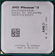 AMD Phenom II X4 955 3.20 ghz/6MB HDX955WFK4DGM 95W AM2 AM3 Quad CPU