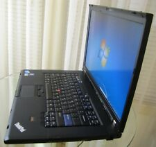 Lenovo ThinkPad T500 Laptop CORE 2 DUO 2.53GHz WIN 7 OFFICE 2007 F'print W'cam