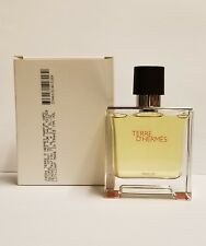 TERRE D'HERMES 2.5OZ PURE PERFUME SPRAY FOR MEN BRAND NEW IN TESTER BOX