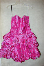 BETSEY JOHNSON PINK FLOWER DRESS EVENING/WEDDING/CLUB SZ 10 NWT RARE DRESS!!