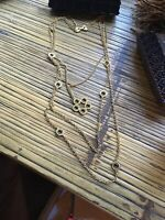 Vintage Designer Signed Celebrity Gold Tone Multi Chain Necklace