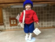 "Marie Osmond Doll Chris Paper Boy Limited Edition Collection 16"" Tall"