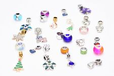 Authentic Pandora Charms Assorted Crystal Glass Beads Rhinestone Bead Spacer Set
