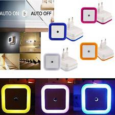 US EU Plug-in Auto Sensor Control LED Night Light Lamp for Bedroom Hallway EM