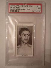 1938 PETER KANE BOXING CHURCHMAN PSA GRADED 7 NEAR - MINT CARD
