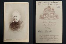 Ami Boué, géologue, Vienne, 1872 CDV Vintage albumen print.Théophile Le Comte,