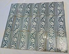 TILE MINTON CHINA  ENGLAND VINTAGE PORCELAIN LOTUS STRIPED ARCHITECTURE 21 PIECE