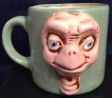 Vtg  80's Signed Nathan FOLK ART Hand Made 3D E.T. Extra Terrestrial Coffee Mug