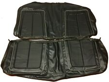 1970 Plymouth Roadrunner Seat Covers Coupe Rear Upholstery Skins Black & Silver