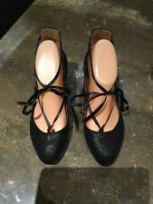 STYLISH NEXT BLACK SPARKLY SHOES / SIZE 5 / WORN GOOD CONDITION