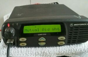 Motorola CDM1250 Radio 25-45W 403-470 MHz UHF AAM25RKD9AA2AN