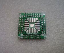 2x SMD Adapterplatine QFP64 QFN64 (0,8mm / 0,5mm) FR4-Industriequalität QFP32-64