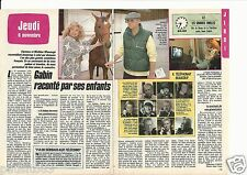 Coupure de presse Clipping 1988 Jean Gabin raconté par ses enfants (2 pages)