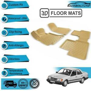 3D Molded Interior Car Floor Mat for MERCEDES E CLASS W124, 1985-1995(Beige)