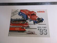 VINTAGE 1993 MARKLIN NEW ITEMS MODEL TRAIN & MORE CATALOG *VG-COND*