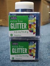 "Sulyn Extra Fine Glitter ""Sapphire"" 2.5 oz LOT OF TWO (2)"