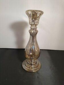 GISELA GRAHAM LARGE GLASS VINTAGE DESIGN CANDLE HOLDER
