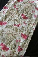 Pretty Antique French Handcraft Long Bolster Cushion Cover Cretonne Toile c1920s