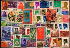 INDONESIA-100 All Different Stamps-Mint & Used-Large & Small-Flora & Fauna