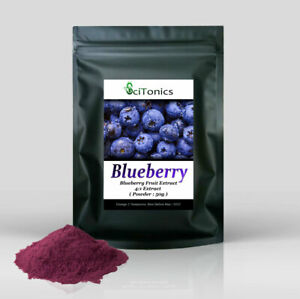 Blueberry Fruit Powder 50g ( 4:1 Extract ) Smoothies, Shakes, Cooking