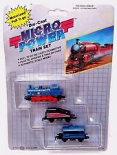 Vintage Die-Cast Locomotive Micro Power - Diecast Soma Blue Train Set 1989 - New