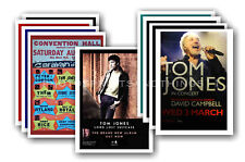 TOM JONES - 10 promotional posters  collectable postcard set # 1