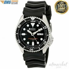 Seiko SKX007J Discontinued Day Date Divers 200m Black Boy Automatic Mens Watch