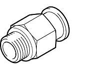186096 Festo QS-G1/8-6 Steckverschraubung  Nennweite  4 mm
