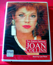 Joan Collins Too Damn Famous 8-Tape UNABRIDGED Audio Book Liza Ross